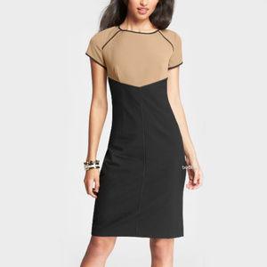Ann Taylor Tipped Color Block Sheath Dress Size 10